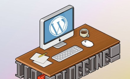 picture of a blogging mac
