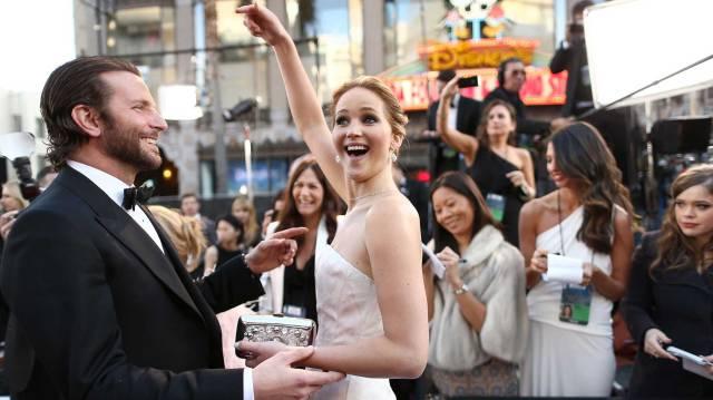 Bradlye Cooper y Jennifer Lawrence